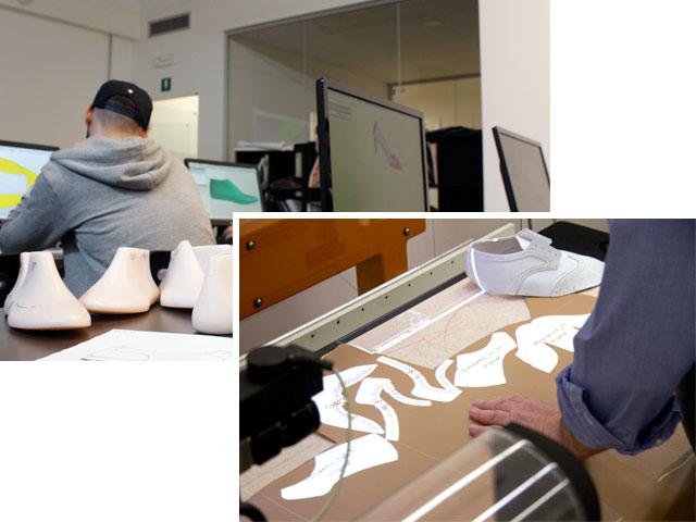 Design scarpa 3D e taglio macchina
